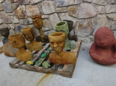 "A bunch of ""pot heads"" :-D Concrete and acid stained"