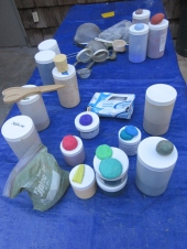 Different pigments for coloring concrete
